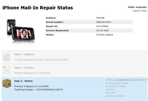 Apple Iphone Repair Status